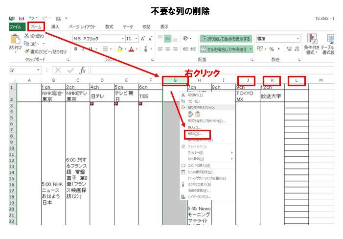 表 兵庫 番組 テレビ