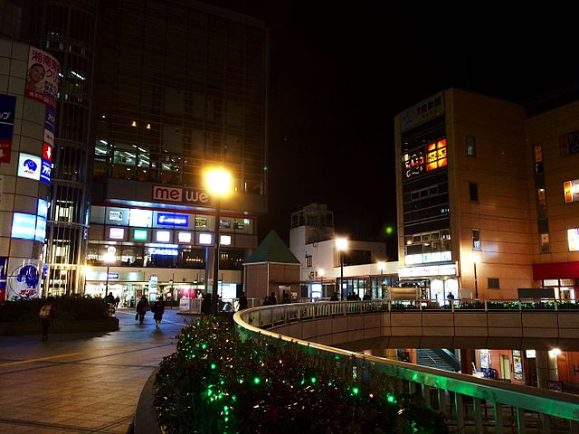 Hashimoto_station_night_view